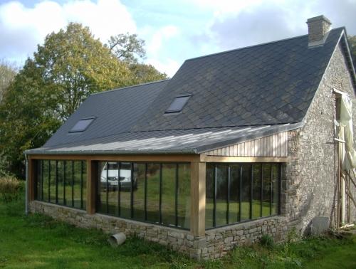 Mancel duclos sarl entreprise de couverture charpente isolation construction bois ramonage - Extension cuisine sur jardin ...